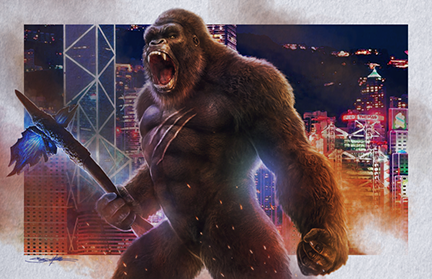 godzilla vs kong : Kong Hong Kong battle