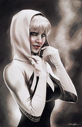 spider-gwen : gwen stacy portrait (monochrome)