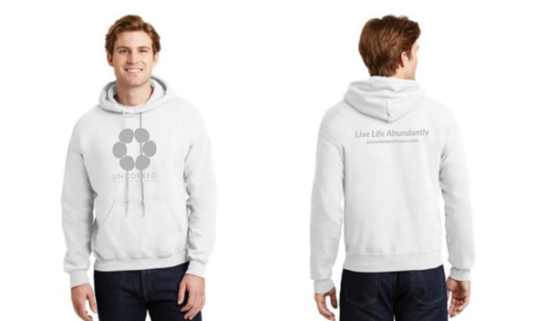 """Live Life Abundantly"" Unisex Heavy Blend Hoodie with Front Pocket"