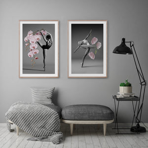 FLORAL BALLERINA #1 * Contemporary photographic floral wall art print