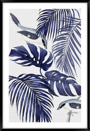 PLANTATION BLUE #1 | Contemporary, tropical fine art print
