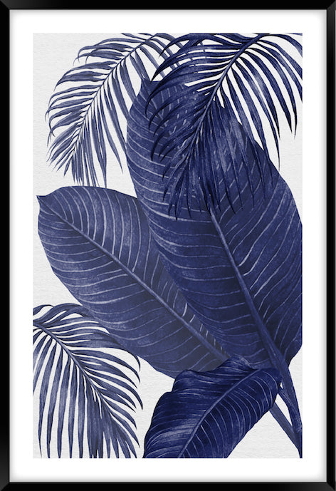 PLANTATION BLUE #3 * Contemporary, tropical fine art print