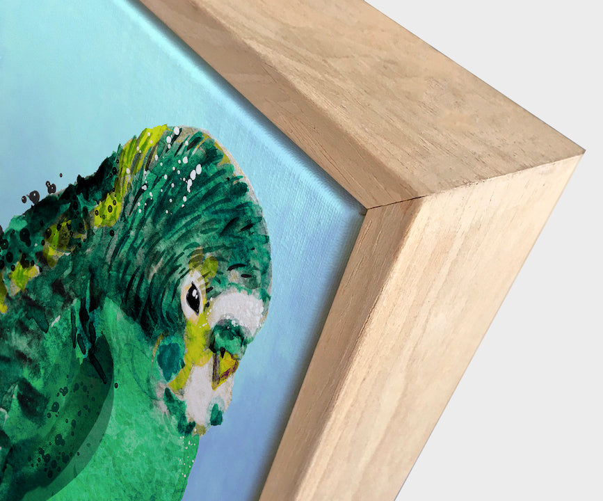 Green Budgie #1 Canvas Art | Wall Style