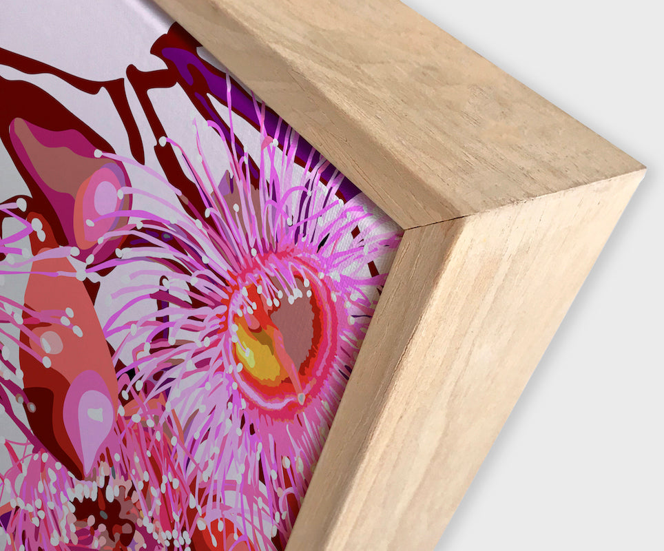 Pink Gum #4 Canvas Art | Art by Wall Style