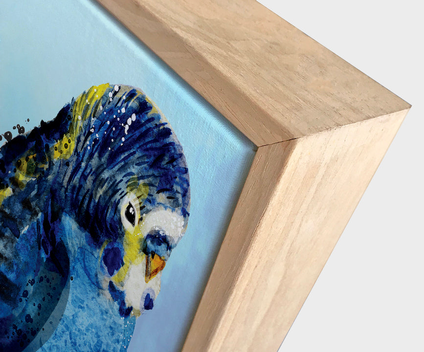 Blue Budgie #2 | Contemporary Canvas Art | Wall Style