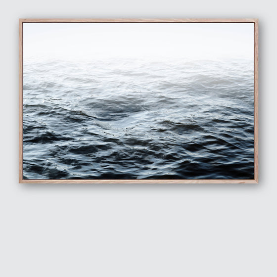 Ocean Calm 1 Canvas Print Beach Style Interior Wall Art by Wall Style