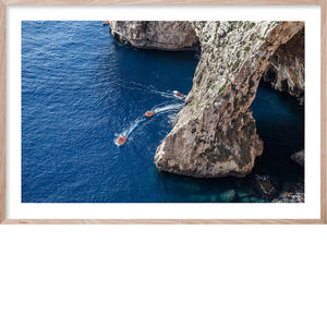 GROTTO AZZURRO Italian Coast Contemporary fine wall art print