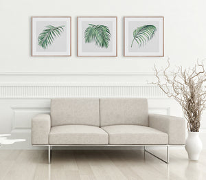 Hampton's Green Palm Collection #1 * Coastal style, hand painted, fine art print