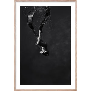 IN THE DEEP #2 *  Contemporary black and white, photographic wall art