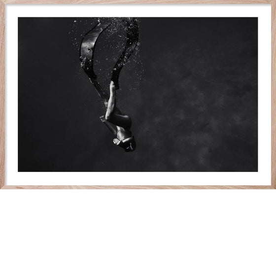 IN THE DEEP #1 *  Contemporary black and white, photographic wall art