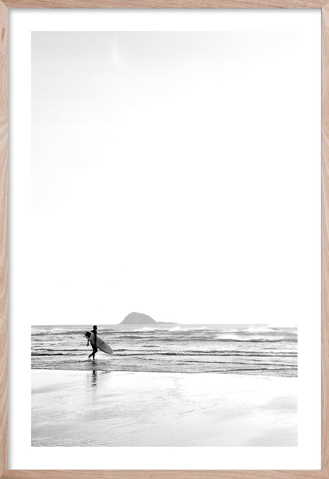 BEFORE IT BEGINS 1 Contemporary photographic beach style wall art print