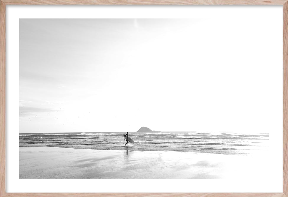 BEFORE IT BEGINS Contemporary ocean style photographic wall art print