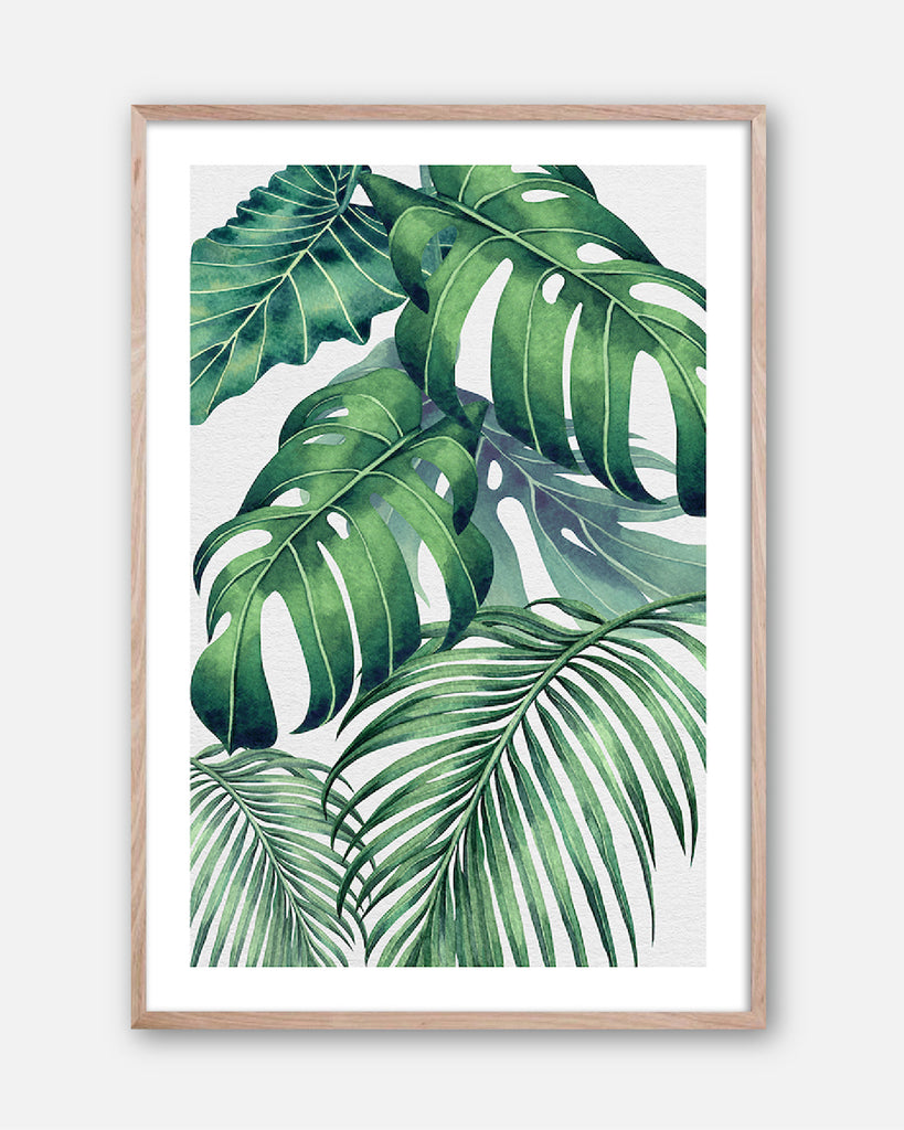 PLANTATION GREEN #2 * Contemporary, tropical fine art print