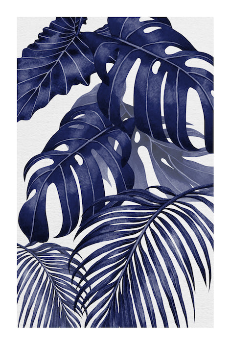 PLANTATION BLUE #2 * Contemporary, tropical fine art print