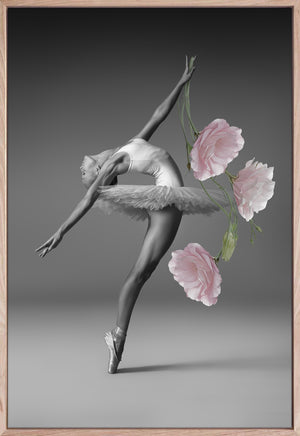 Floral Ballerina 2 Canvas Contemporary photographic interior wall art