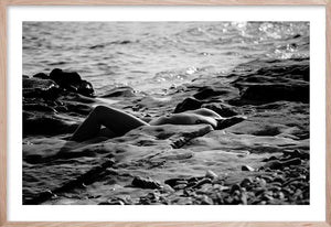 B & W FORM 1  Photographic artistic nude, coastal fine wall art print