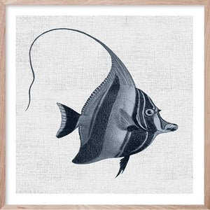 TROPICAL FISH 3 Hampton's style artwork hand painted wall art print