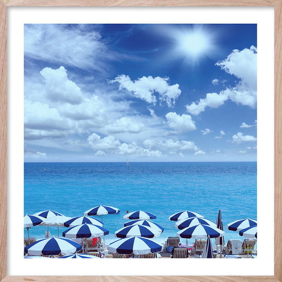BEACHSIDE VIBES * Contemporary ocean style photographic wall art print