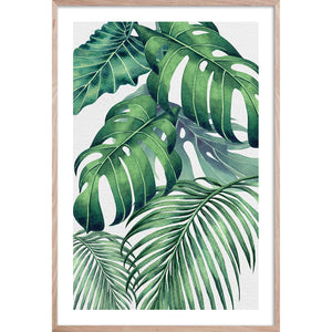 PLANTATION GREEN 4 * Contemporary, tropical palm fine wall art print