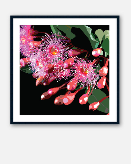 PINK GUM #2 * Contemporary, hand painted, fine art print