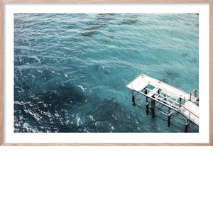 BY THE PIER*  Contemporary, ocean style photographic wall art print