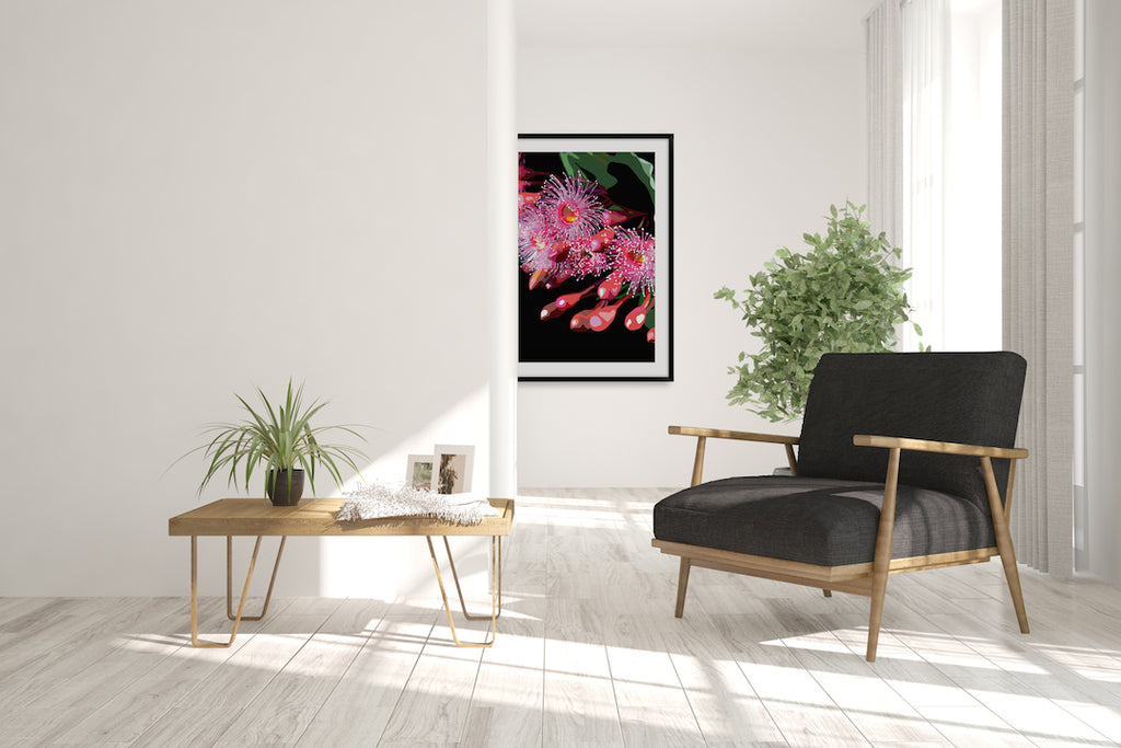 PINK GUM #1 * Contemporary hand painted fine art print