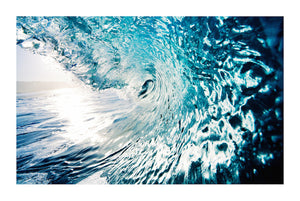 RIDING THE WAVE 1 Contemporary ocean style photographic wall art print