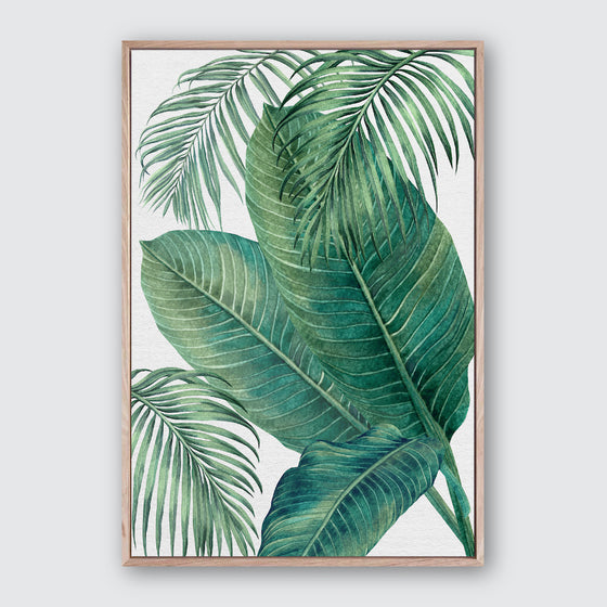 Plantation Green 3 Canvas Print | Tropical Botanical Style Wall Art