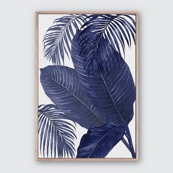 Plantation Blue 3 Canvas Print | Tropical Botanical Style Wall Art