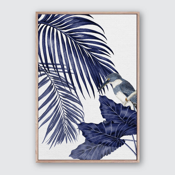 Plantation Blue 4 Canvas Print | Tropical Botanical Style Wall Art