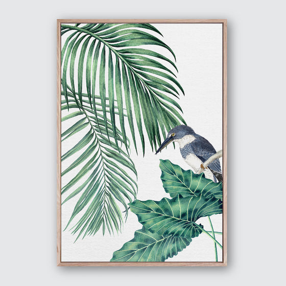 Plantation Green 4 Canvas Print | Tropical Botanical Style Wall Art