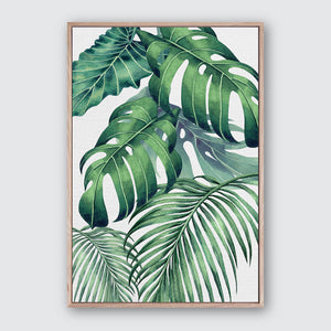 Plantation Green 1 Canvas Print | Tropical Botanical Style Wall Art