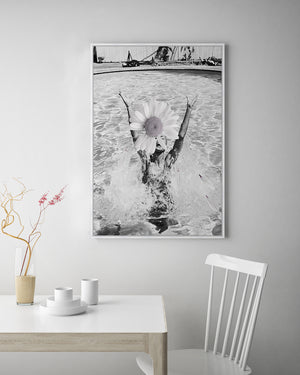Vintage Daisy Canvas Art | Contemporary photographic artwork | Wall Style