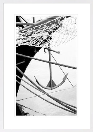 SAIL AWAY 3 B&W *  Hampton's inspired, coastal wall art fine art print
