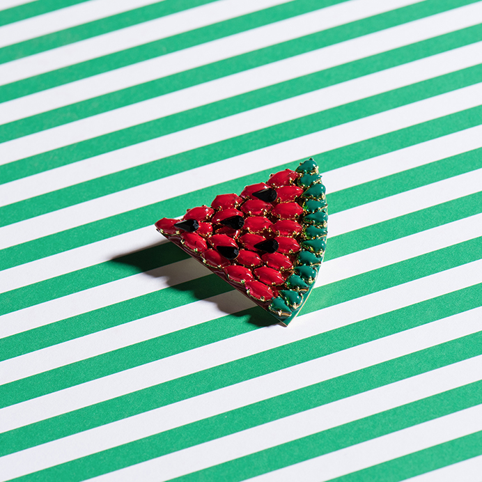 Watermelon Brooch