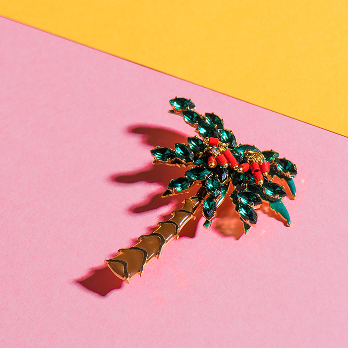 Palm Tree Brooch