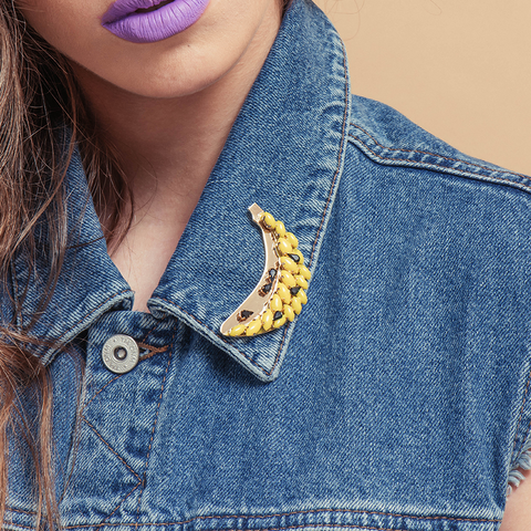 Banana Brooch