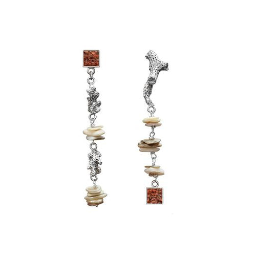 Reef Earrings - Coral - Fouxx.com