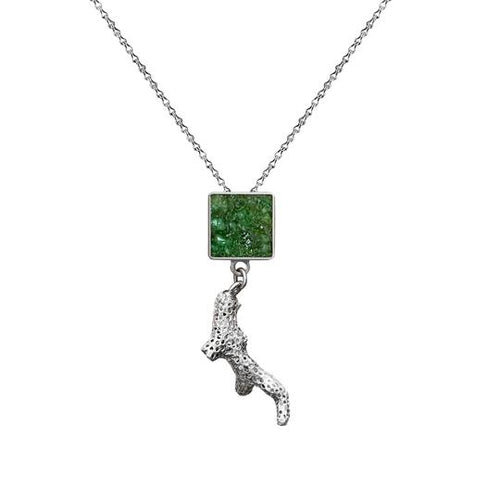 Ivory Bush Necklace - Green - Fouxx.com