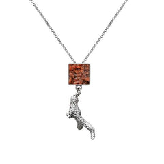 Ivory Bush Necklace - Coral