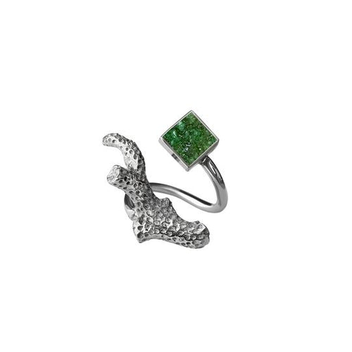 Ivory Bush Ring - Green - Fouxx.com
