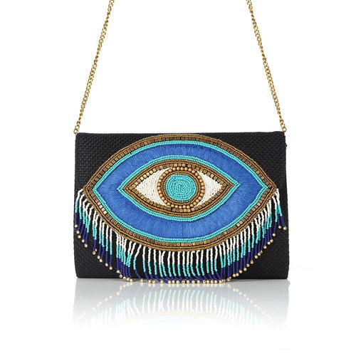 All Eyes On You Beaded Fringes Clutch