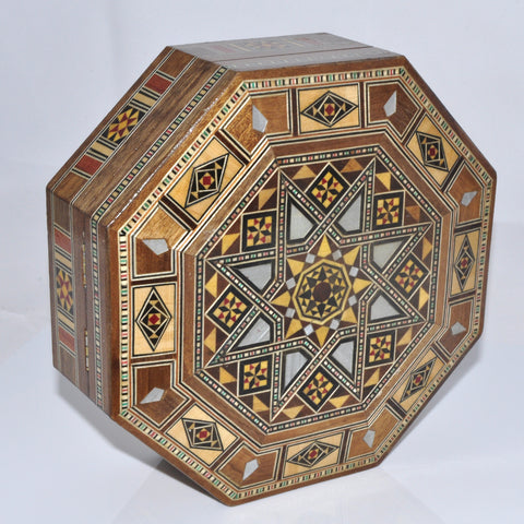 Hexagon brown box