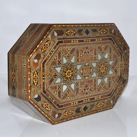 Octagonal wooden box