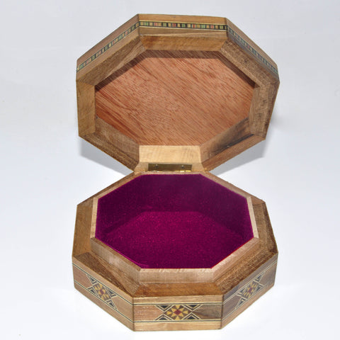 Octagonal wooden box Small