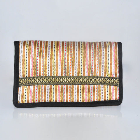 Makeup Pouch with mirror - Gold
