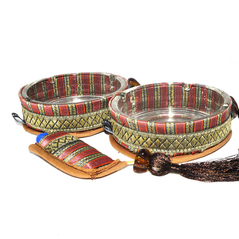 Ashtray Set - Red