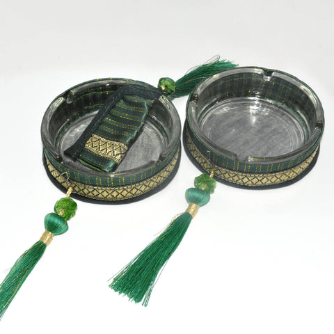 Ashtray Set - Green