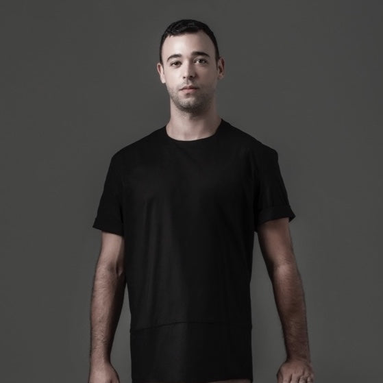 Basic Tee with Zipper - Black