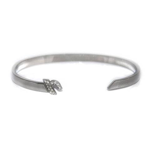 "Silver Cuff with Diamond ""أ"" - A - Fouxx.com"